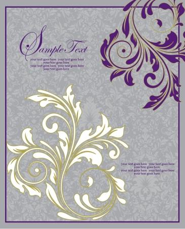 swirl: Floral Wedding Invitation Card Illustration