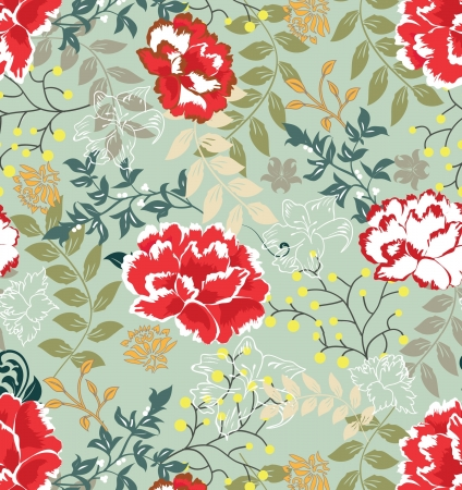 abstract flowers: Retro floral seamless background,pattern