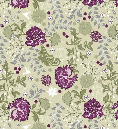 tree texture: floral seamless pattern Illustration