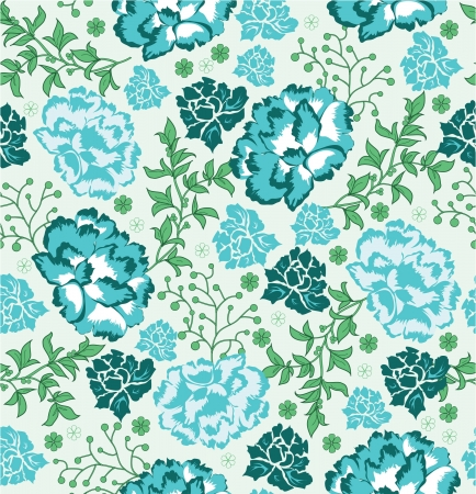 abstract flowers: Seamless floral pattern