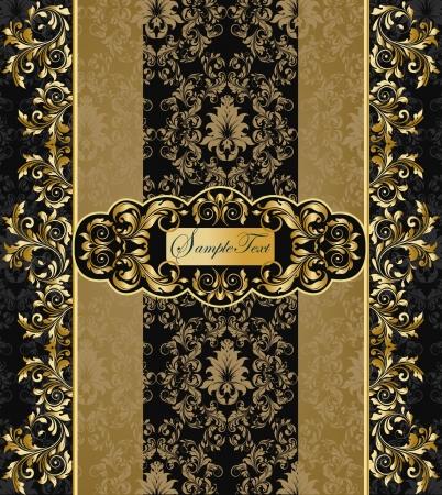 gold: black and gold background Illustration