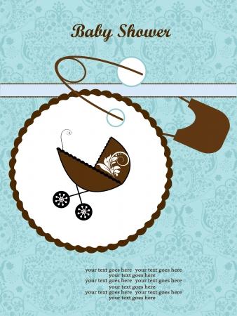 Douche van de Baby Aankondiging Stock Illustratie