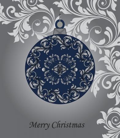 festive: Christmas ball illustration