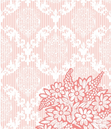 pink vintage damask background