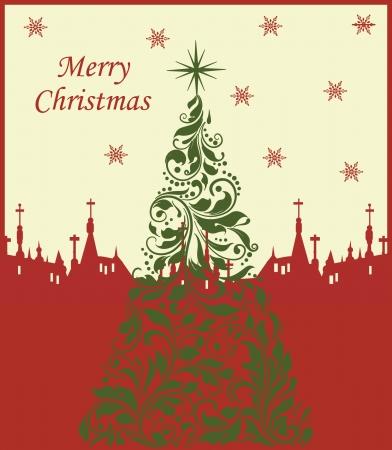 Cute Merry Christmas card Stock Vector - 16255493