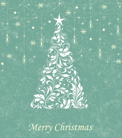 Xmas retro card Vector