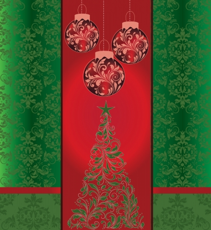 Christmas damask background Stock Vector - 16255549