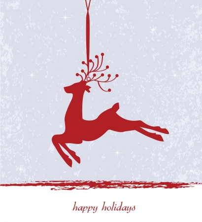 Beautiful Reindeer on Gray background Vector