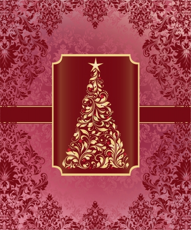Christmas Tree, Greeting Card Vector