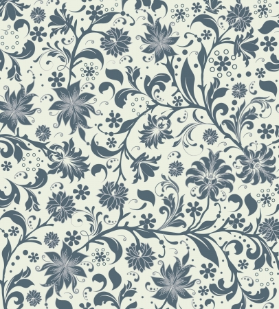 Naadloze: Naadloze bloemmotief Stock Illustratie
