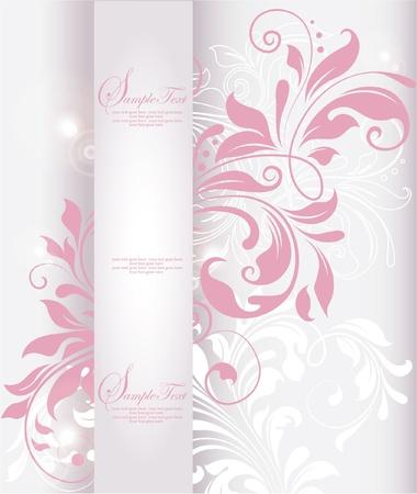 feminine background: fondo de la vendimia del vector invitaciones de boda o anuncios rom�nticos