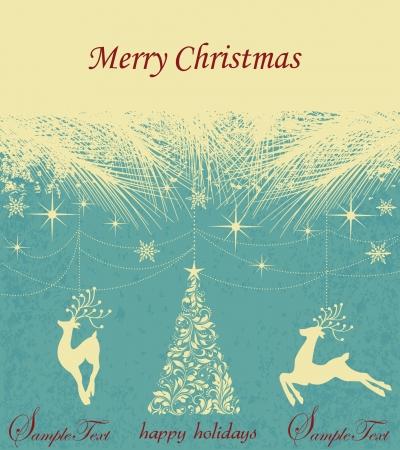 Vintage Christmas Card Stock Vector - 16772090