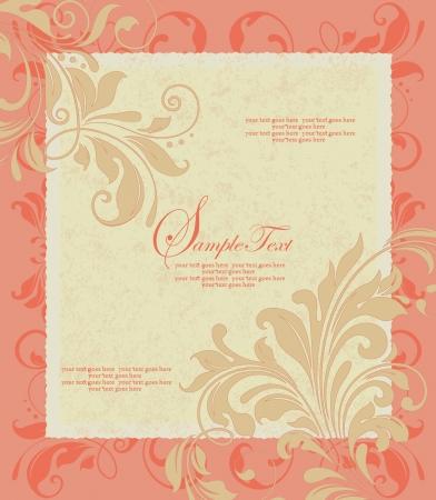 Tarjeta de la invitación del estilo del damasco Foto de archivo - 16885529