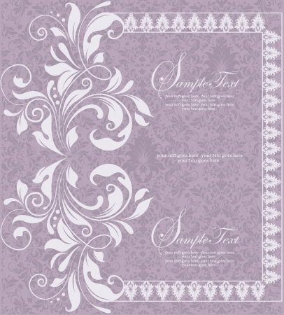 purple invitation card design