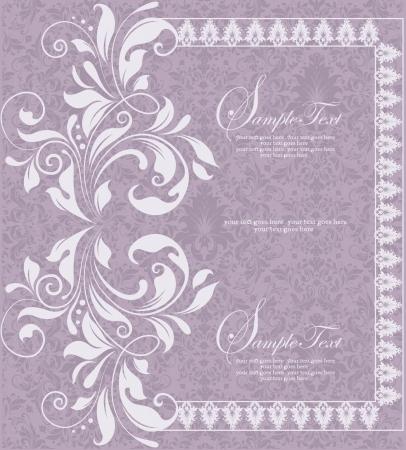 purple invitation card design