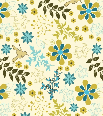 Retro floral seamless background,pattern Stock Vector - 17603616