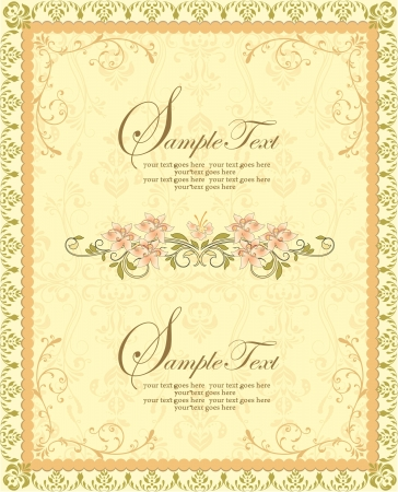 vector ornate frame with floral elements Vector