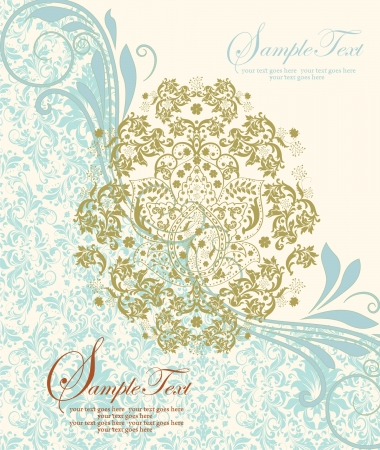 damask invitation card Stock Vector - 17970554