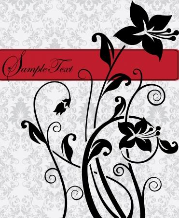 Naadloze: illustratie met florale elementen en plaats voor tekst