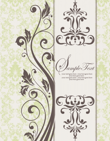 Invitation card design Vector