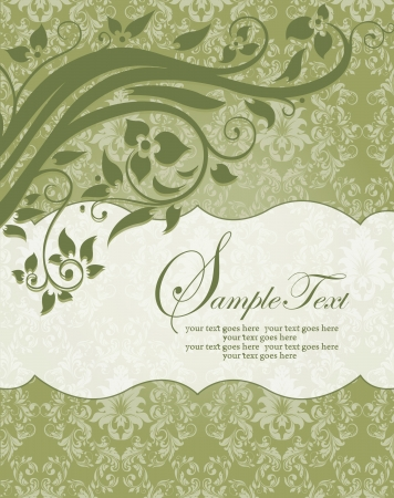 ELEGANT DAMASK INVITATION CARD Stock Vector - 18066766