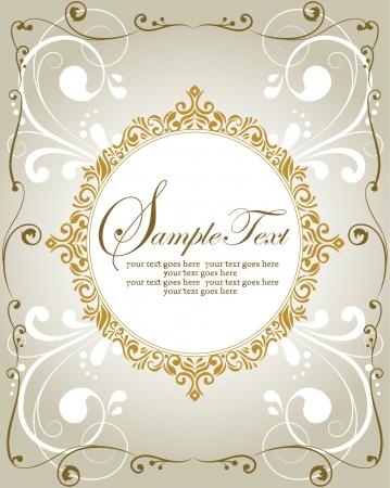 invitacion boda vintage: Plantilla de dise�o de marco para la tarjeta de felicitaci�n o invitaci�n