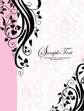 romantic vintage background wedding invitations or announcements Иллюстрация