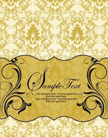 Romantic Vintage Card Design Stock Vector - 18686185