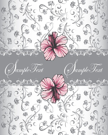 Naadloze: vintage uitnodigingskaart met florale achtergrond en plaats voor tekst