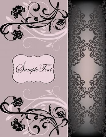 romance: ornate card announcement Illustration