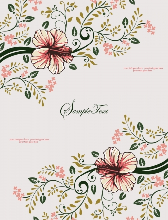 arbor: floral invitation card with tree branch