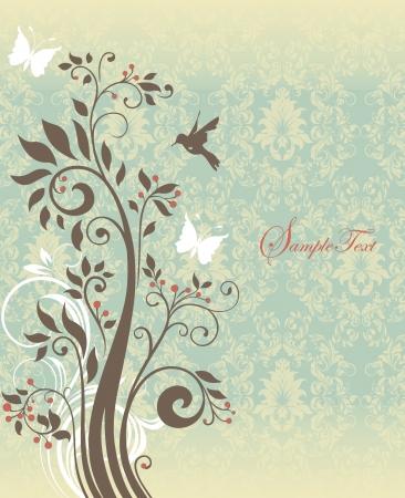 아름 다운 빈티지 꽃 카드