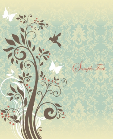 Beautiful vintage floral card