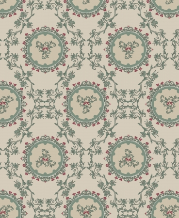Vintage floral background, pattern Vector