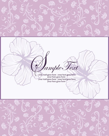 wallpaper image: purple floral invitation Illustration