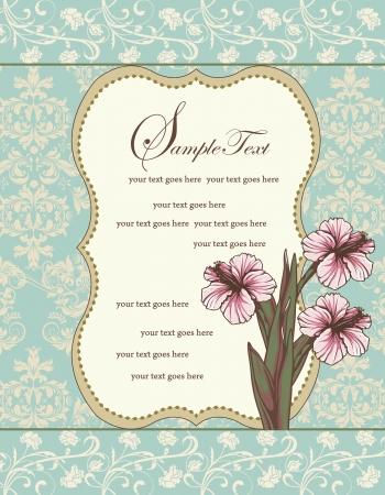 Beautiful vintage floral card
