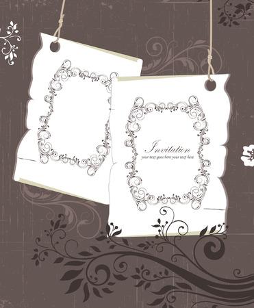 Vintage frames and design elements Stock Vector - 23871434