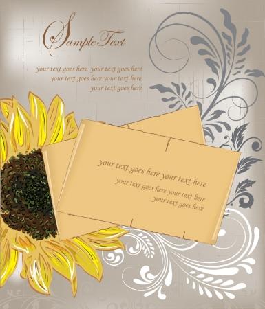 royal wedding: Sunflower Wedding Invitation  Brown and Yellow