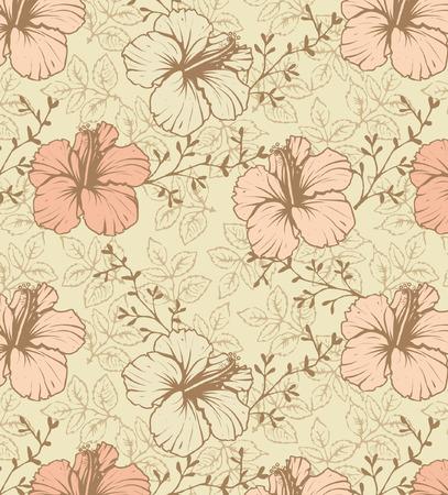 floral seamless pattern, vector design Illustration