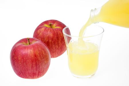 りんごとりんごジュース 写真素材