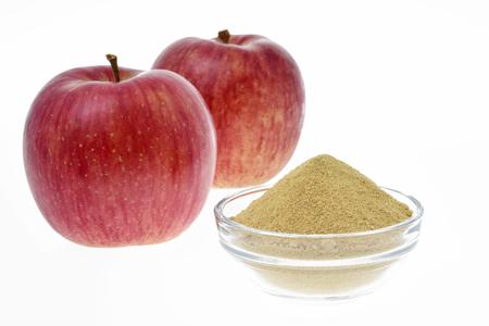 사과와 사과 펙틴 분말 스톡 콘텐츠