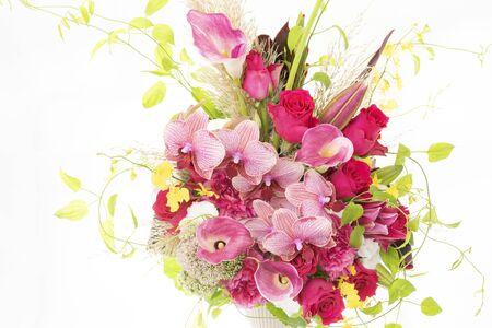 Beautiful flower arrangement on white background. 写真素材 - 132170742