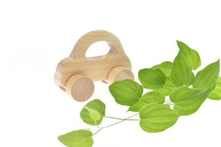Eco car image, car wooden 写真素材 - 131871139