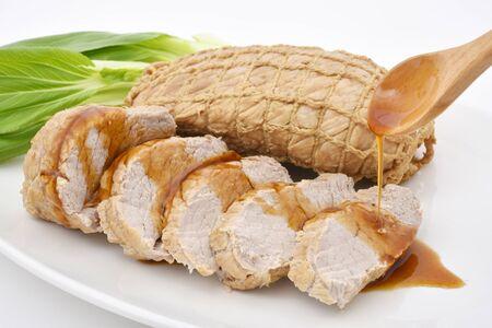 Braised pork and bok choy