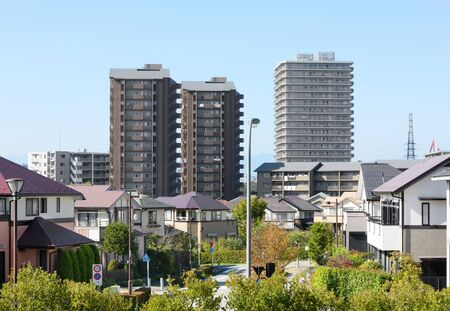 Japans residential area, suburbs of Tokyo