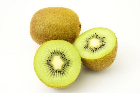 Fresh Kiwi Fruit on White Background 写真素材