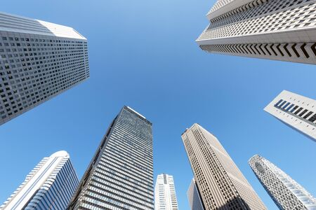 High-rise buildings of fine weather - Shinjuku, Tokyo, Japan