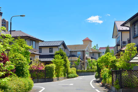 Japan's residential area, suburbs of Tokyo