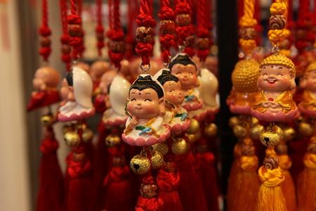 good luck charm: Cute hanging buddha decorations