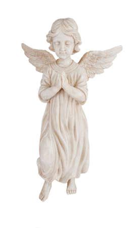 Praying angel isolated on white photo